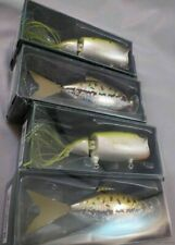 Wholesale Lot of 4 Fishing Pole Lures Chuck Woolery New moto chug minnow fish