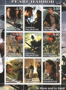 PEARL HARBOR BEN AFFLECK JOSH HARTNETT EPIC WWII MOVIE 2001 MNH STAMP SHEETLET