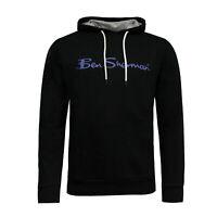 Ben Sherman Mens Hoodie Jumper Sweatshirt Black 0058685-BLK X16A