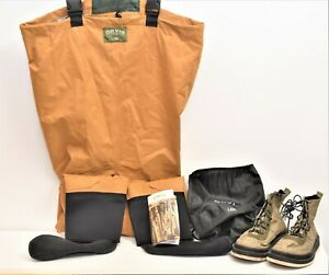 Orvis Size LSH Silver Label 2 Trout Fly Fishing Waders With Boots Size 11M >8.2p