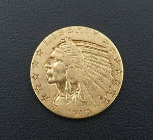 1910 $5 Dollar Indian Head Half Eagle Gold Coin Free Shipping Rare M1542