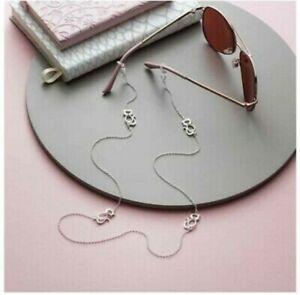 Avon Ciara Cat Glasses Chain Silver Plated New, Boxed