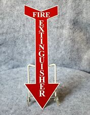 "Arrow Shaped Fire Extinguisher Sign 11.75""x 4"" Red/ White Safety Signs"