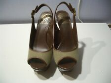 VINCE CAMUTO  VC STEM  MODEL NATURAL COMBO  RESORT CANVS/ORLOV SHOES SZ 7 M
