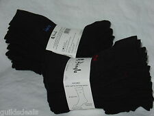 MENS PRINGLE SOCKS BLACK 8 Pairs Cotton Embroided Size 7 to 11