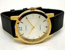 citizen quartz gold plated men's Japan made wrist watch