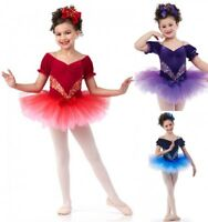 Dream A Little Dream Dance Costume Velvet Ballet Tutu New CHOICE Color & Size