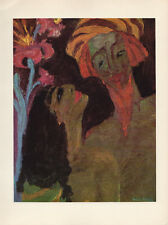 """1959 Vintage EMIL NOLDE """"PRINCE and SWEETHEART"""" GORGEOUS COLOR Offset Lithograph"""