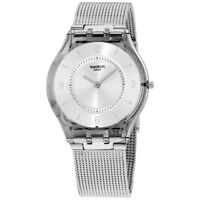 Swatch Skin Quartz Movement Silver Dial Ladies Watch SFM118M