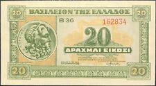 GRECE 20 DRACHMAI 1940 UNC