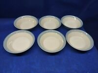 "Vintage Epoch Stoneware ""COOL SEA"" Set/6 Soup/Salad Bowls #5001 Retired"
