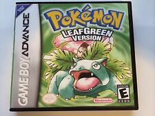Pokemon Leaf Green - GBA - Replacement Case - No Game