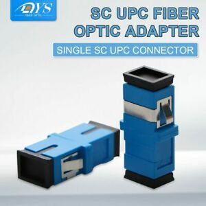 200pcs Fiber Optic Connector Adapter SC/UPC SM Flange Simplex SC-SC 1:1 Coupler