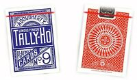 TALLY HO #9 Playing Cards 2 Decks Circle Back Design 1 Red & 1 Blue Deck New