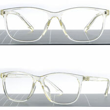 Light Square Translucent Clear Plastic Frame Transparent Men's Womens RX Glasses