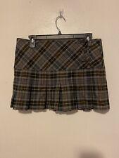 No Boundaries Junior's Plaid Check Mini Skirt Size 9
