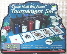 POKER(Trademark)TOURNAMENT SET/Texas Hold 'Em Card Game–NEW/SEALED TIN/NIB/Chips