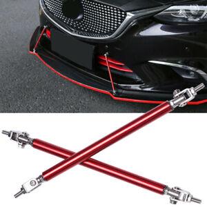 Red Adjustable Front Bumper Lip Splitter Strut Rod Tie Support Bar For Mazda