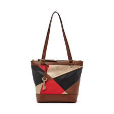 Fossil Gift PW Patchwork Small Shopper Leather Purse Red Multi ZB6702995 $168