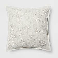 Embroidered Floral Square Throw Pillow - Threshold™