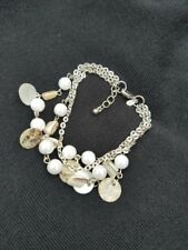 Premier Designs Jewelry Coastal Strands Bracelet ~ Mother-of-Pearl, Shells