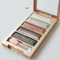 5 Color Smoky Eyeshadow Glitter Natural Shimmer Palette Eye Shadow Warm L1J2