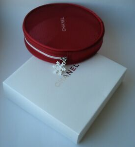 CHANEL  Beaute  VIP gift Red  Pouch for Cosmetics Mesh Round Trousse