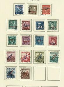 Slowakei 1939, überdruckte Freimarken zur Erklärung der unabhängikeit 14.3.39