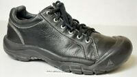 Keen Womens Shoe Biggs Black Leather Lace Up Oxford Sneaker Shoes size 10    s30