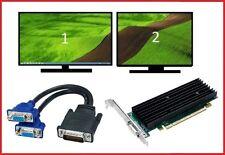 Dell Vostro 200 220 230 260 270 400 460 MT Tower Video Graphics Card +  DUAL VGA