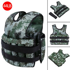Camouflage Weight Vest 44lbs Adjustable Workout Fitness Exercise Training Cloths