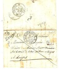 1833 LETTRE CURSIVE ESSOYES + CACHET BAR SUR SEINE EN PORT PAYE