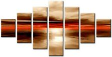 7 Panel Total Size 160x90cm Large Digital Print Canvas Wall Art  EXEL Brown