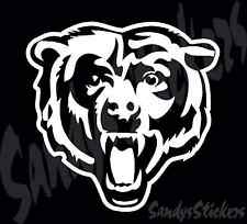 """2 Chicago Bears Head Vinyl Decals Stickers - Many Colors - 6"""" Tall"""