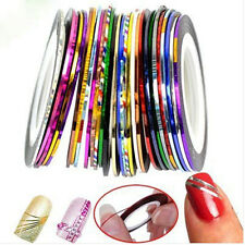 10 Color Rolls Striping Tape Line Nail Sticker Nail DIY Kit Nail Art UV Gel Tips