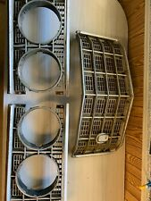 1973 Ford Ltd Grill And Headlamp Bezels With Mounting Bracket Attached
