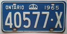 Ontario 1965 License Plate HIGH QUALITY # 40577-X