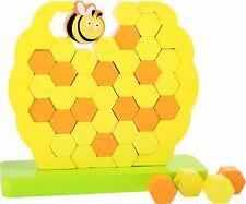 Colmena Abejas tambaleante Torre para niños juguete juego niños saldo destreza habilidades motoras