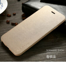 X-level Case for iPhone 7 6s Plus Luxury Leather Wallet Flip Stand Cover S003 Gold for iPhone 6