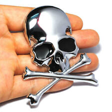 Pirate Skull Car Badge Cross Bones 3D Metal Emblem Sticker for Exterior Interior