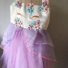 Girls Unicorn Party Dress. Age 5-6