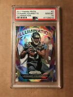 2017 LEONARD FOURNETTE PANINI PRIZM #7 ILLUMINATION PSA 10 GEM ROOKIE RC