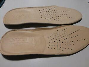 Original ecco Leder-Einlegesohlen, Fußbett - weich gepolstert - Größe 42
