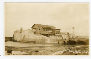old Puerto Rico photo postcard, San Geronimo
