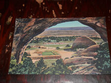 WINDOW ROCK ARIZONA - RARE LINEN POSTCARD - CENTRAL NAVAJO INDIAN AGENCY