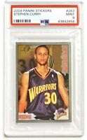 STEPHEN CURRY Rookie #263 RC PSA 9 - Panini Stickers - Population 35