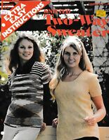Knitted Two-Way Sweater Extra Easy Instructions | Leisure Arts 24