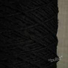 Soft Alpaca Wool Blend Yarn Aran / DK 500g Cone 10 Balls Black Double Knitting