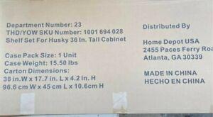 "Husky Shelf Set of 2 Black Shelves for Husky 36"" Tall Cabinet"