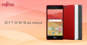 FUJITSU ARROWS M04 PREMIUM VER METAL FRAME TOUGH ANDROID PHONE UNLOCKED RED